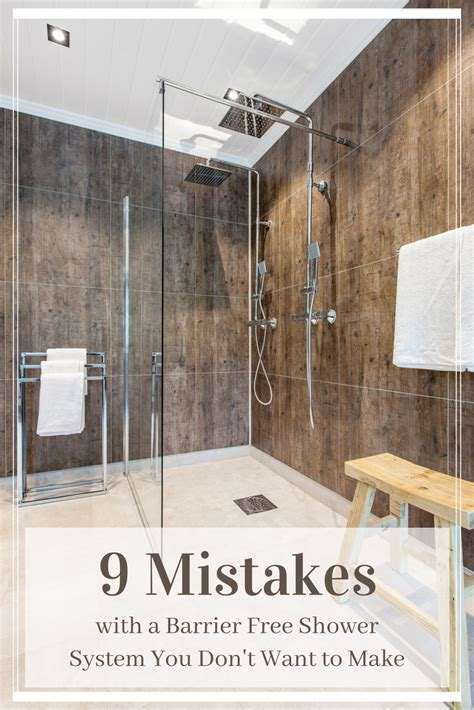 mistakes   barrier  shower system  dont