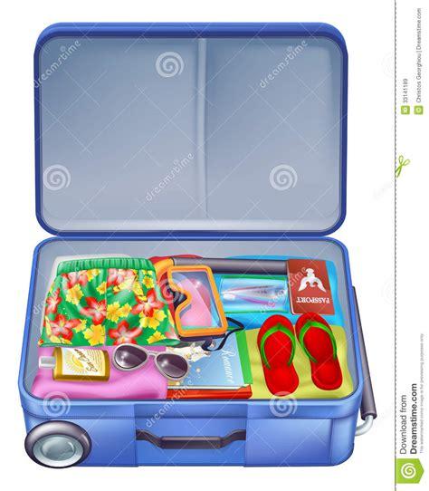 Tas Jinjing Summer Sun 1 vacation suitcase stock vector image 33141189