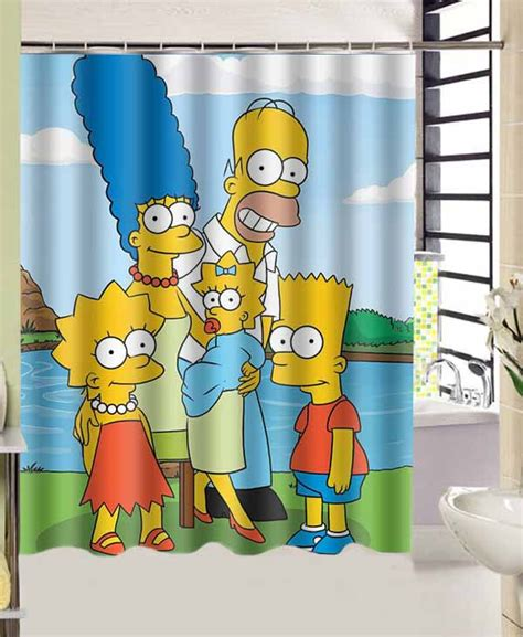 simpsons shower curtain photos bath promotion shop for promotional photos bath on