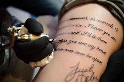 girl with the tattoo lyrics justin bieber baby superfan tattoos s