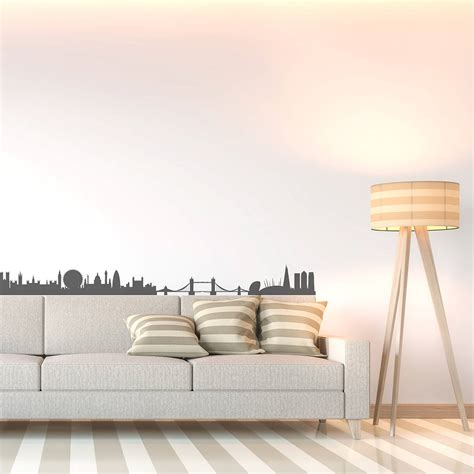 skyline wall stickers skyline wall sticker by leonora hammond
