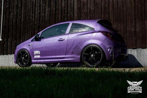 opel purple schwabenfolia opel corsa d opc vollfolierung in lila