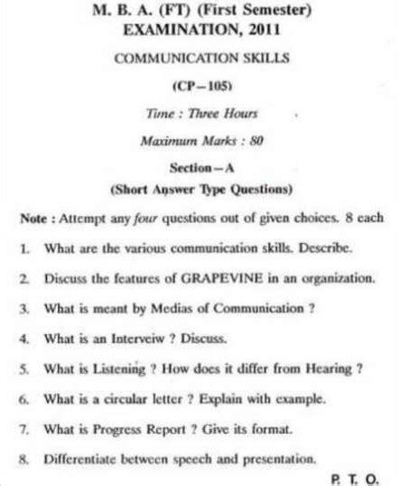 Barkatullah University Mba Cp 105 Communication Skills