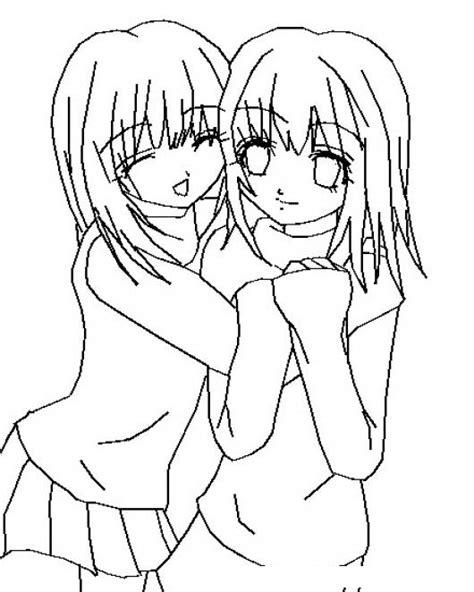 imagenes para dibujar mejores amigas mejores amigas por siempre dibujo para pintar y colorear a