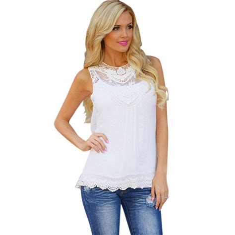 Casual Blouse jecksion summer blouse 2016 cotton lace blouse