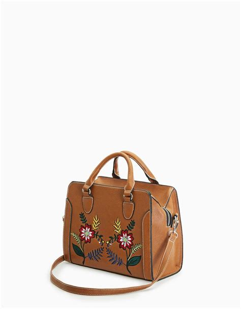Stradivarius Tote Bag by Tote Bag With Embroidery Detail Accessories