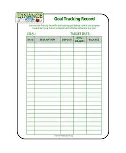Goal Tracker Template by 10 Goal Tracking Templates Free Sle Exle Format