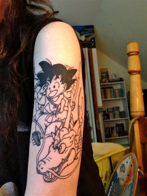 goku and shenron tattoo by mickischmidt on deviantart