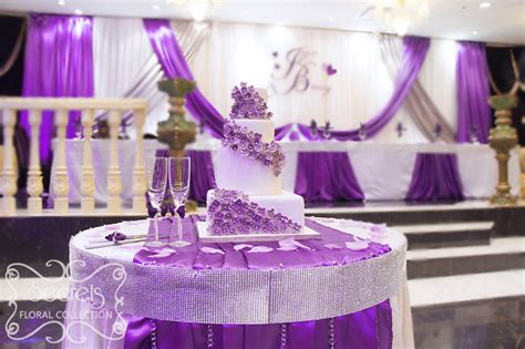 wedding table decorations purple and silver a crystallized royal purple and silver wedding reception
