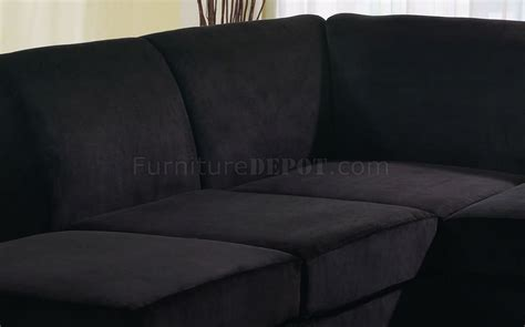 black microfiber couch and loveseat black microfiber stylish sectional sofa w wooden legs