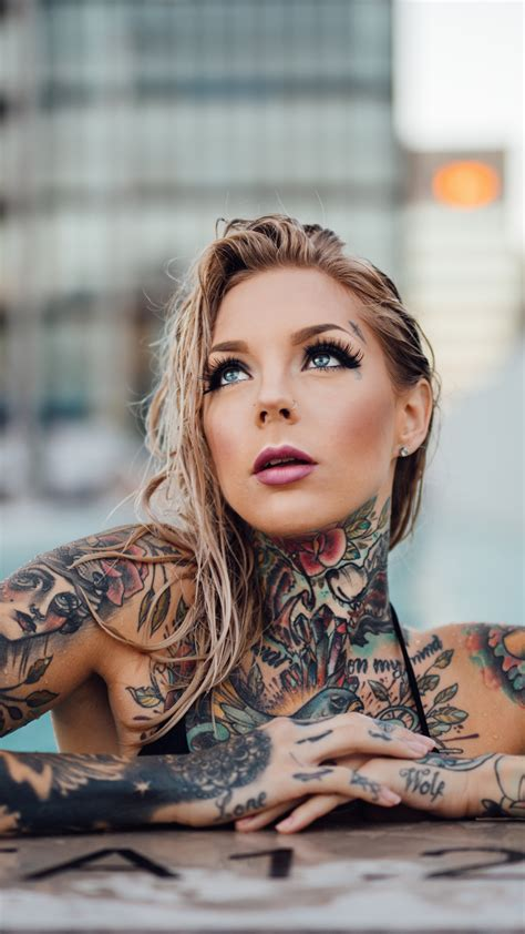 woman with tattoos tattooed wallpaper www pixshark images