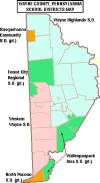wayne county pa tax map pocono school district