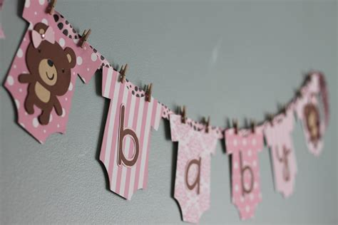 Baby Shower Banner by Teddy Baby Shower Banner Pink And Brown Teddy