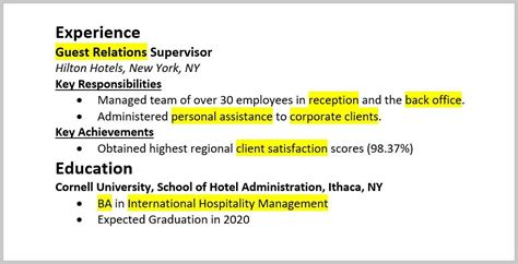 Key Words For Resumes by Resume Keywords To Use Step By Step Guide 25 Exles