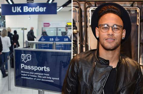 neymar waved into britain without passport by starstruck