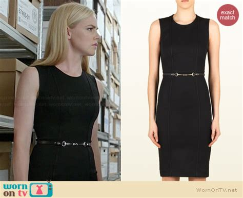 amanda schull on suits wornontv katrina s black sleeveless seamed dress on suits