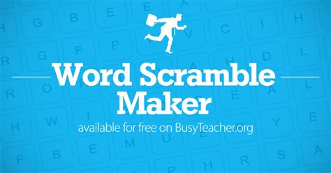 Free Word Scramble Maker Make Your Own Word Scramble