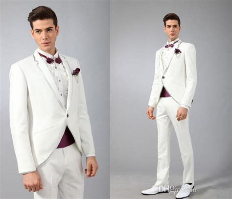 Best Blazer Casual White Putih 1 formal slim tuxedos one button notch lapel coat