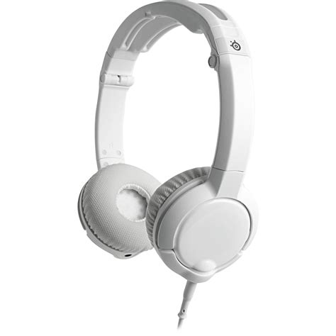 Headset Gaming Steelseries steelseries flux gaming headset white 61279 b h photo