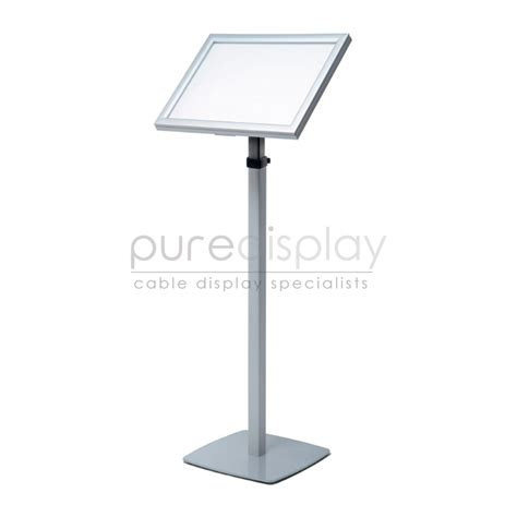 Standing Floor by Floor Standing Angled A3 Led Back Lit Display Stand