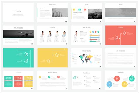 Template For Powerpoint Presentation Maya Presentation Template Presentation Templates On Creative Market