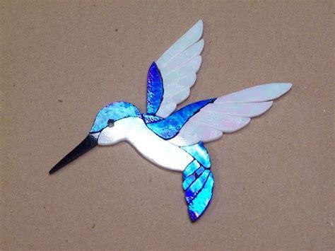 mosaic hummingbird pattern precut stained glass art hummingbird kit mosaic inlay