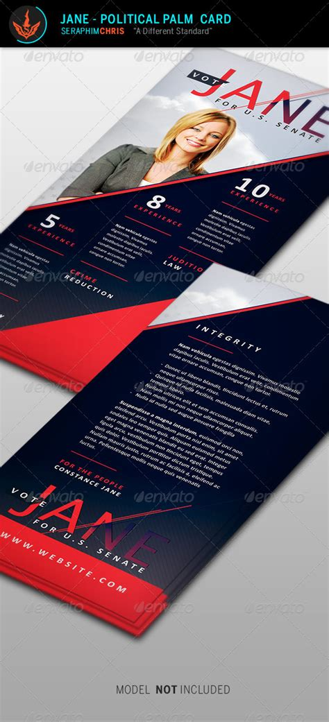 Political Palm Card Template Word by Political Palm Card Template By Seraphimchris