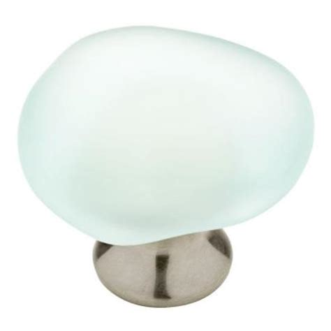 Liberty Door Knobs by Liberty 1 1 2 In Satin Nickel And Glass Sea Glass Knob 2