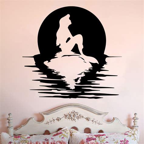 ariel wall stickers ariel moon silhouette mermaid inspired vinyl