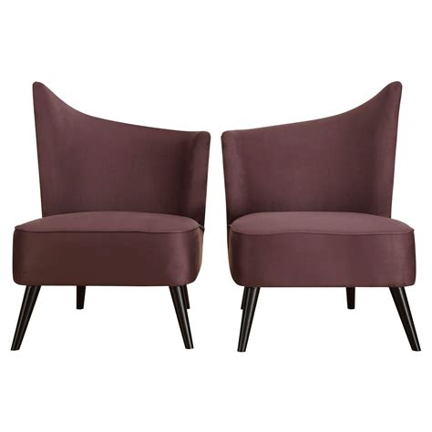 Lavender Accent Chair Purple Accent Chair Taba Global Bazaar Purple Wingback Accent Chair Kathy Kuo Home 31 H