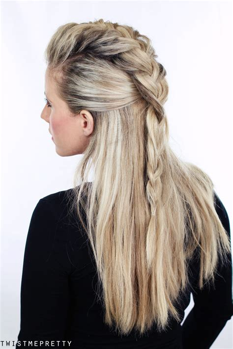 easy half up twist hairstyle with braids for american girl half up faux hawk twist me pretty