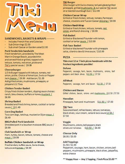 gove boat club menu pleasure island tiki bar sportsman marina orange beach