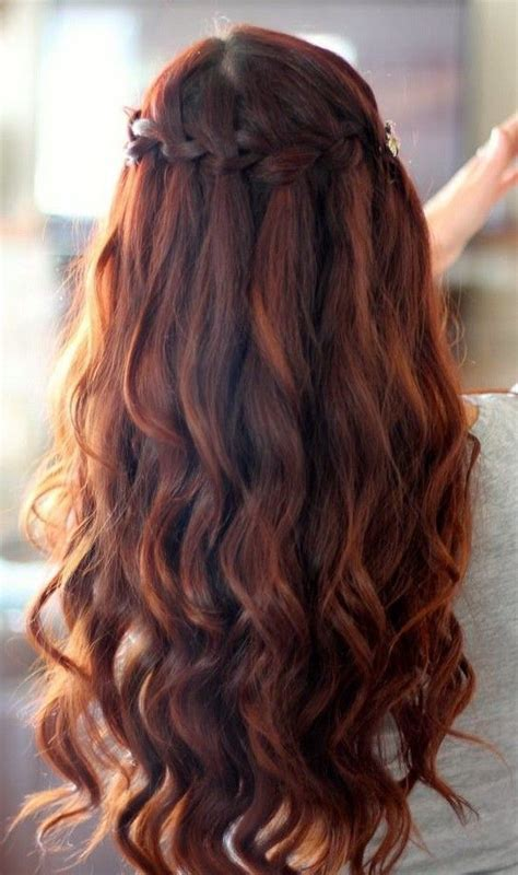 hairstyles curls and braids homecoming braided hairstyles waterfall braid with