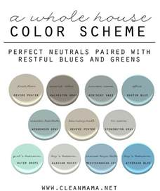 whole house color palette how to choose a color scheme for your home clean