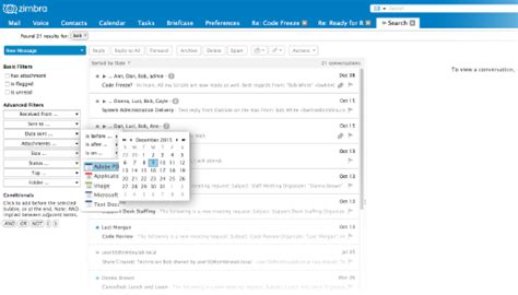 Zimbra Email Search Email Server Software For The Enterprise Zimbra Collaboration Network Edition