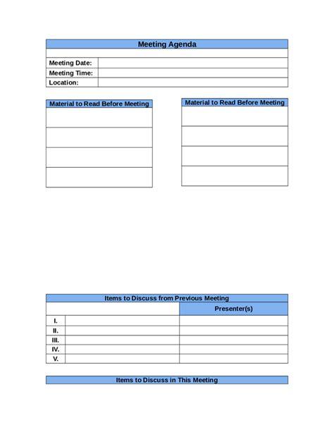 10 marketing meeting agenda templates free sample example format