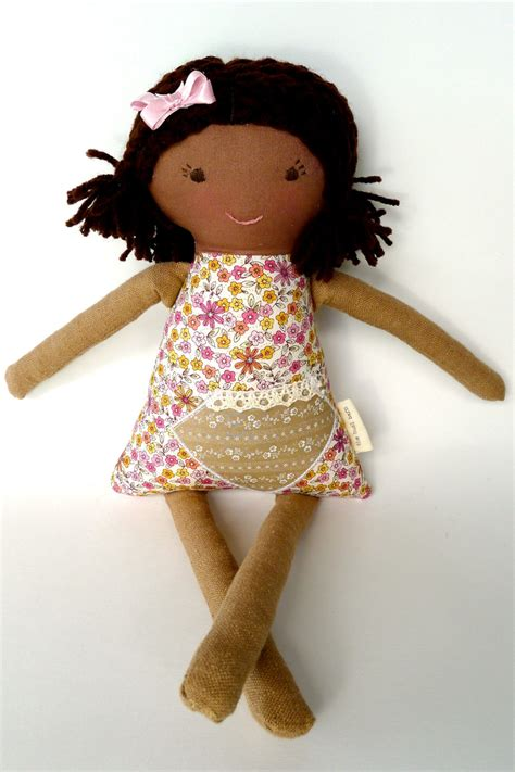 Handmade Cloth Dolls - handmade rag waldorf doll american brown skin cloth