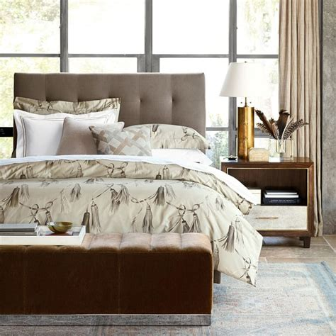 william sonoma bedding printed tassels bedding williams sonoma