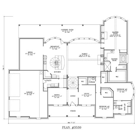 inspiring large one story house plans 7 large one story