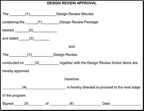 design approval form design review approval form blueprint for project