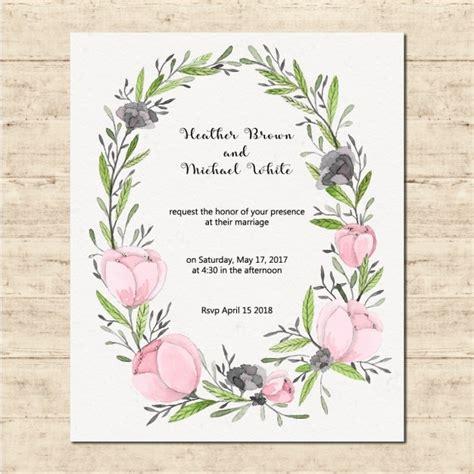 Wedding Card Frames wedding card with a floral frame vector free