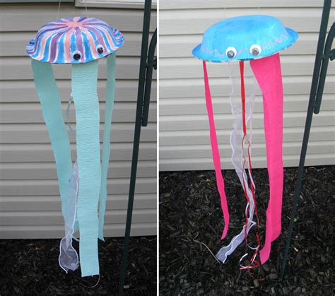 Paper Jellyfish Craft - summer kid s crafts paper plate jelly fish