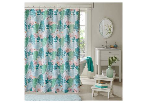 printed shower curtains aqua shower curtain society6 swirling marble in aqua