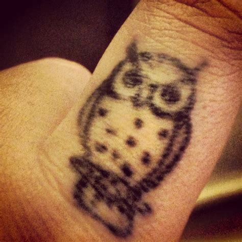 owl finger tattoo tiny owl finger tattoos owl