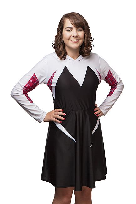 Gwen Dress marvel i am spider gwen hooded dress exclusive thinkgeek
