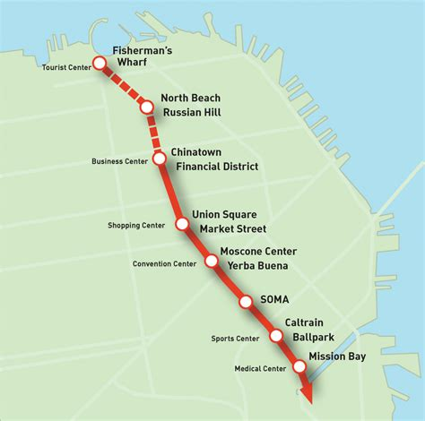 san francisco muni underground map san francisco central subway map my