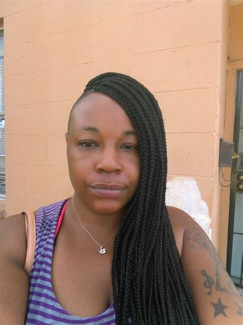 box braids with human hair box braids with shaved sides and back human hair box