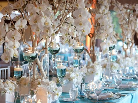 blue wedding centerpieces wedding and bridal