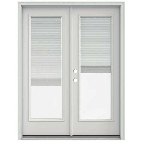 Jeld Wen Patio Doors With Blinds Jeld Wen 60 In X 80 In Primed Prehung Right Inswing Patio Door With Brickmould And