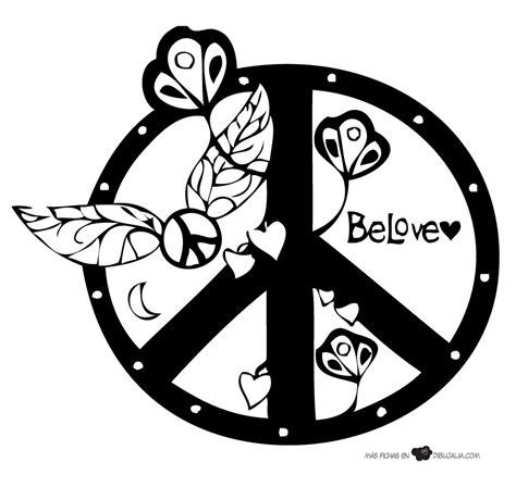 imagenes de simbolos hermosos simbolo paz con flores dibujalia dibujos para colorear